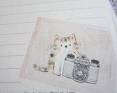 letter paper / Cat Photo