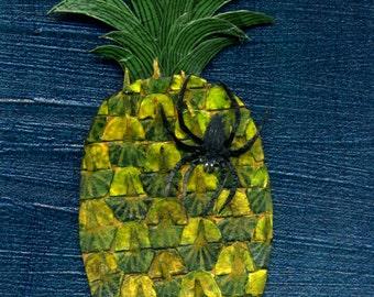 Pineapple greetings card