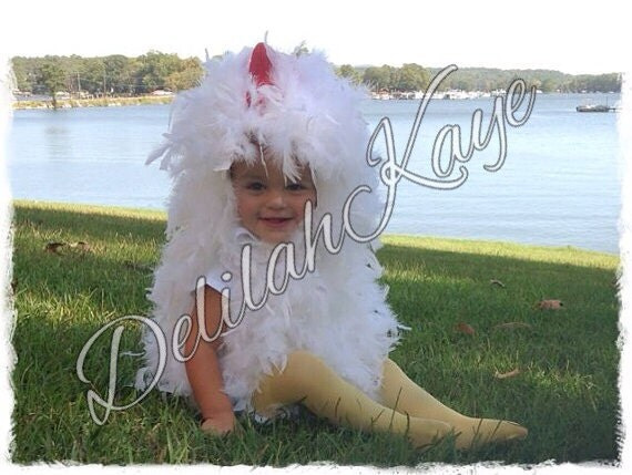 Chicken Costume 12 - 18  Months Toddler Fluffy Feathers Chick Halloween Costume