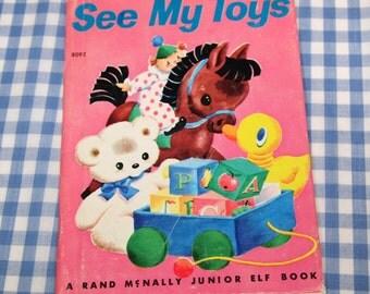 see my toys, vintage 1957 children's junior elf book