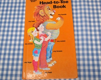 my head-to-toe book, vintage 1974 children's book