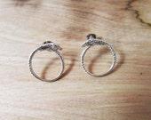 Ouroboros Sterling Silver Post Earrings (FREE SHIPPING)