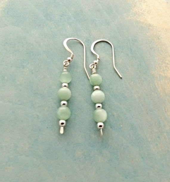 Minty Fresh - Sterling Silver Dangle with Mint Green Beads