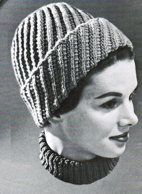 Items similar to Knitted Spiral Lace Toque PDF Pattern ...