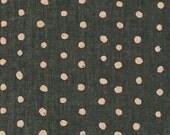 Nani Iro Basic Pocho in Charcoal and Metallic Gold Dot