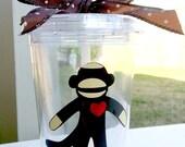 Sock Monkey Tumbler