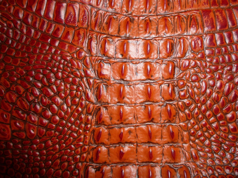 Leather 20 Quot X20 Quot Alligator Burnt Orange Gator Embossed 2 75 3
