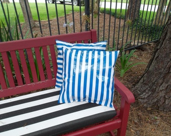 Oilcloth Outdoor Pillow 16 X 16 pillow form included set of two