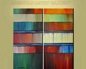 Original Painting Abstract Large 2 Canvas 48x48 Ready to Hang Art  By Thomas John