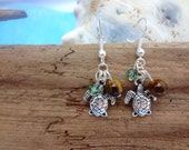 Graceful Loggerhead Sea Turtle Earrings