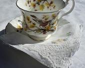 Vintage Cup and Saucer, Royal Albert, Woodland Series, Robin, England