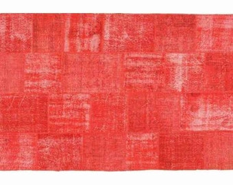 Patchwork rug Red 111