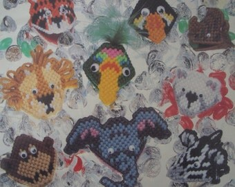 Plastic Canvas Animals Critters Squeezums Pattern Book 3048