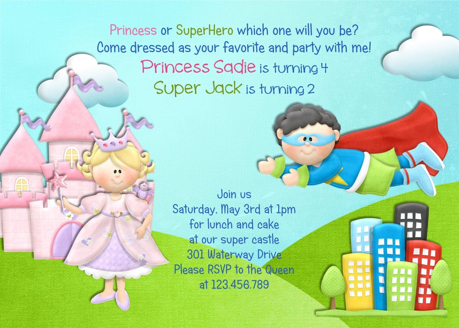 Castle Invitations Birthday Party Image collections - Party ...