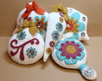 Jacobean PDF Ornaments-Set of Six-Instant Download Pattern-Hand Sewing