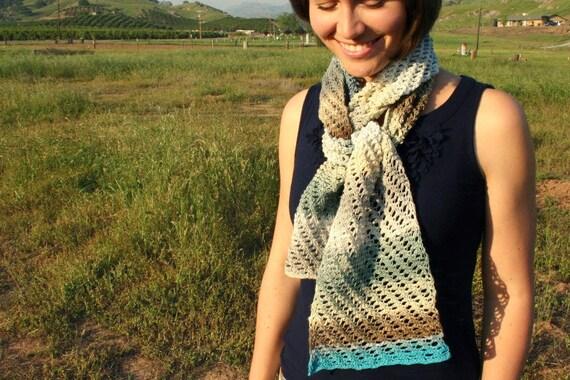 Crochet Lace Scarf - Tunisian Crochet