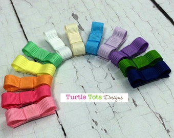 Starter Set Baby Hair Clip- Snap Clip- Set of 12 Hair Clip - Pink Yellow White Purple Blue - Baby, Toddler, Girl, Children