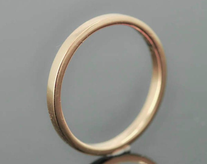 14K rose gold ring, 1mm x 1mm, wedding band, wedding ring, flat, mens wedding ring, mens wedding band, size up to 6