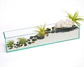 CRYSTAL WAVE terrarium housewarming gift, hostess gift, cool gift ideas, hipster decor ideas, zen garden,air plant terrarium,good karma,
