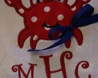 Monogrammed Crab Shirt