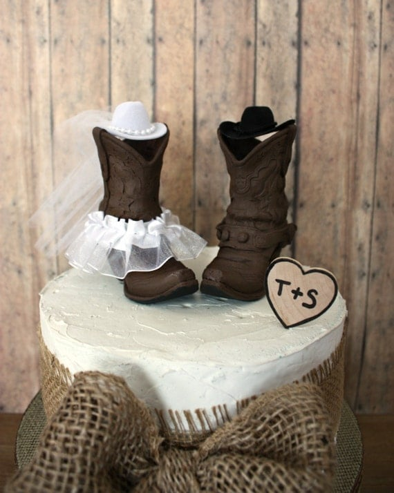 Country Western Wedding Cake Topper Cowgirl By MorganTheCreator