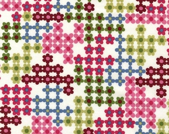 Organic Cotton - Magenta Pop Posies From Robert Kaufman's Pop Posies Collection