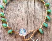 Crochet Surfer Girl bracelet Trendy Very bohemian Beachy Jewelry