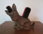 Vintage Scottie Terrier Shoe Brush Holder