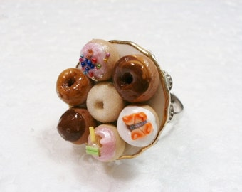 Donuts Ring. Polymer Clay.