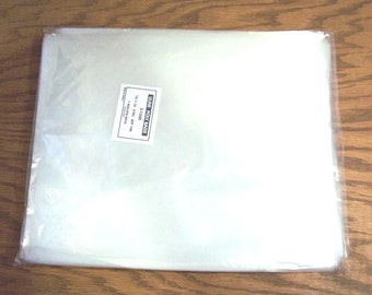 100 Poly Bags, Archival Quality: 10 x 12 inches, 2 mil Plastic Bags. 2mm10x12