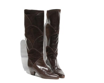 size: 5.5 Charles David Dark Brown Leather Tall Boots