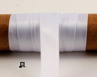 White Satin Ribbon - 100 Yards - 5/8 inch - Invitation Making, Wedding, Shower