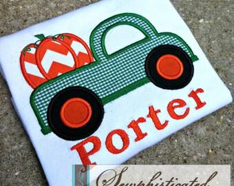 Boys Pumpkin Truck Shirt