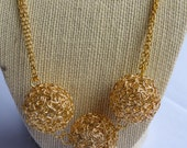 Custom Order for Maddie-Gold Ball Wire Necklace