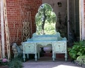 CUSTOM PAINTED VANITY Your Way! Order Today Antique Vanity The Shabby Chic Furniture Painted Vanity Shabby Vanity - Nationwide Shipping