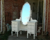 CUSTOM VANITY Order Your Own Antique Furniture The Shabby Chic Furniture Painted Furniture Shabby Vanity Painted Vanity Nationwide Shipping