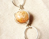BUTTERSCOTCH - Agate and Silver Link Bracelet