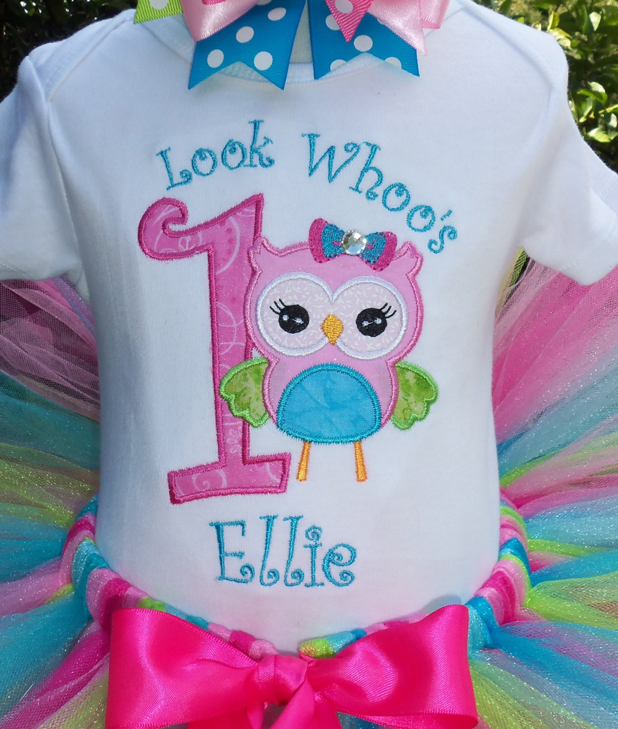 Look Whoo's One Owl 1st Birthday Outfit Party Outfit