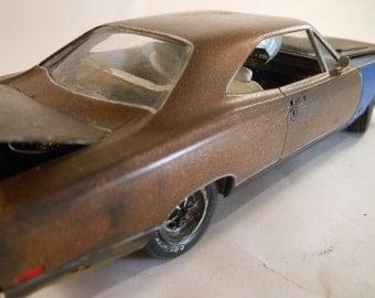 Classicwrecks,Scale Model Car,Rat Rod,Bronze Mopar,Rusted Wreck,1/24 Scale,John Findra.