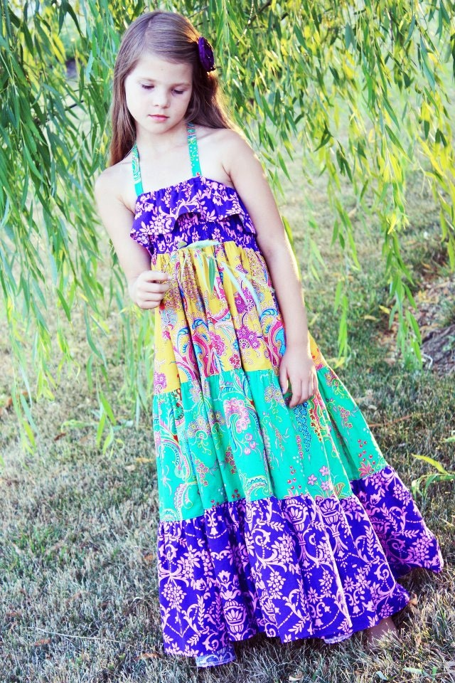 Cora S Tween Tiered Maxi Dress Sun Dress And Top Pdf