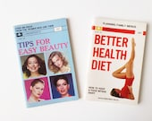 Mini Purse Books, Lot of 2: Tips for Easy Beauty & Better Health Diet