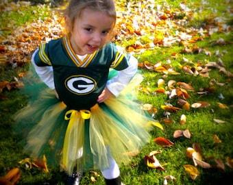 Packers Colors Tutu | Green Bay Colors Tutu | Yellow and Green Tutu | Baby Toddler Tutu | Football Tutu | Sports Tutu | Green Gold Tutu
