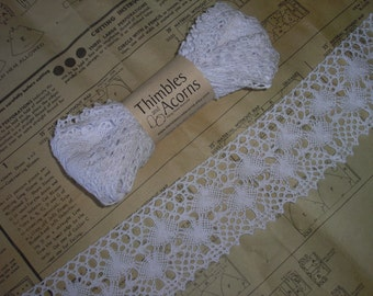 30% off while supplies last!  5 yards of 2-1/2 inch wide  White Cotton Cluny Lace