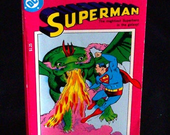 Vintage Children's Book - Superman The Mightiest Superhero in the Galaxy - 1978
