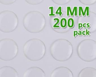200pcs 14mm Round Clear Epoxy Stickers,epoxy resin,epoxy Domes,thick about 1.3mm,epoxy cabochon,transparent-C1898