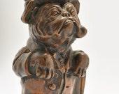 Very RARE Art Metal Works Smoking Bulldog Bronze Striker Lighter Ronson Make Me An Offer