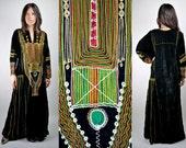 Vintage 70s Moroccan Velvet Caftan