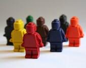 Mini Man Crayons - Set of 8