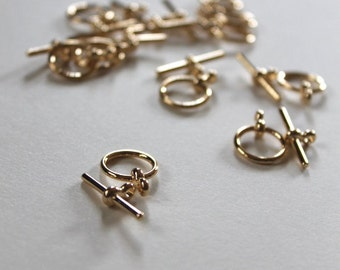 Gold-plate toggle, smooth toggle, jewelry supplies, beading supplies, clasps, gold-plate clasp, gold-plate clasps, toggles