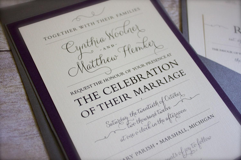 Vintage Glam Wedding Invitations: Vintage Wedding Invitation Cindy & Matt: Vintage. Glam. Fun